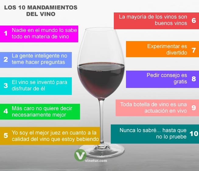 mandamientos del vino