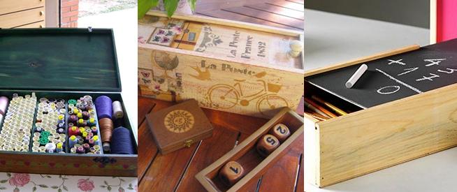 10 ideas para reutilizar las cajas de vino de madera for Reciclar una cama de madera
