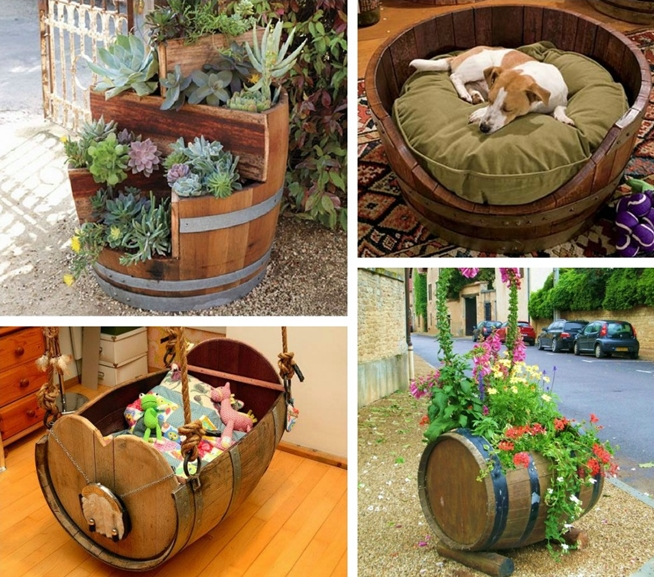 10 ideas originales para reciclar barricas for Adornos para bares rusticos