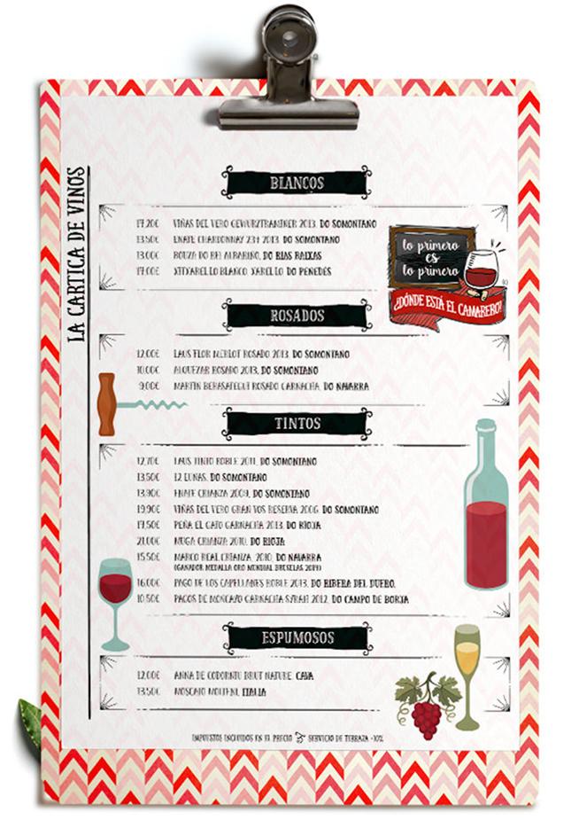 20 items para crear una carta de vinos
