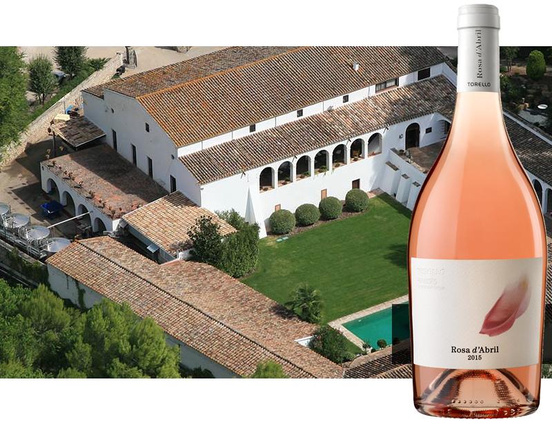 El vino Rosa d'Abril inspirado en los rosales de la finca de Can Martí