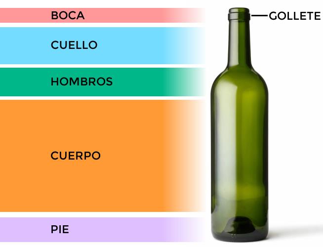 Anatom a de la botella de vino - Botelleros de vino ...