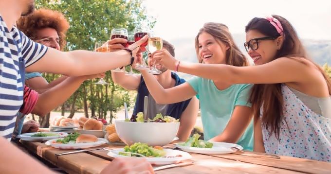 vino gastronomia salud