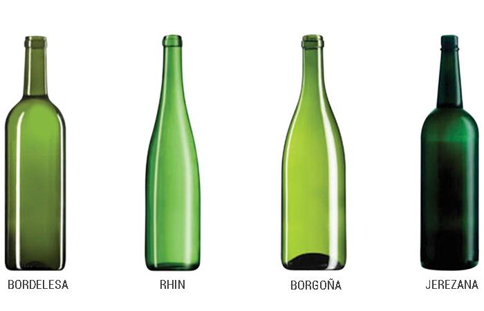 Los tipos y formas de botellas de vino ideales - Botelleros de vino ...