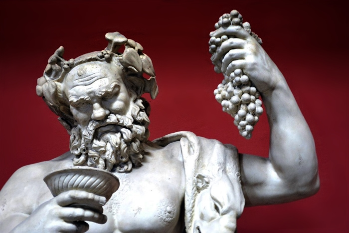 Dios del vino romano: Baco