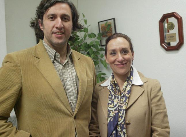 Roberto Martín y Maite Geijo, socios de bodega Liba y Deleite
