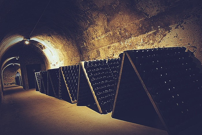 Cavas de Champagne en Francia