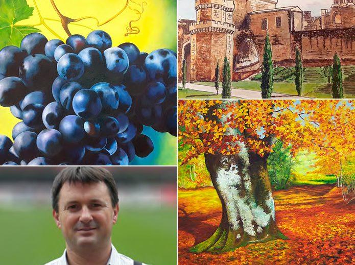 El artista valent n urriza expone su obra en bodegas for Pinturas esquiroz
