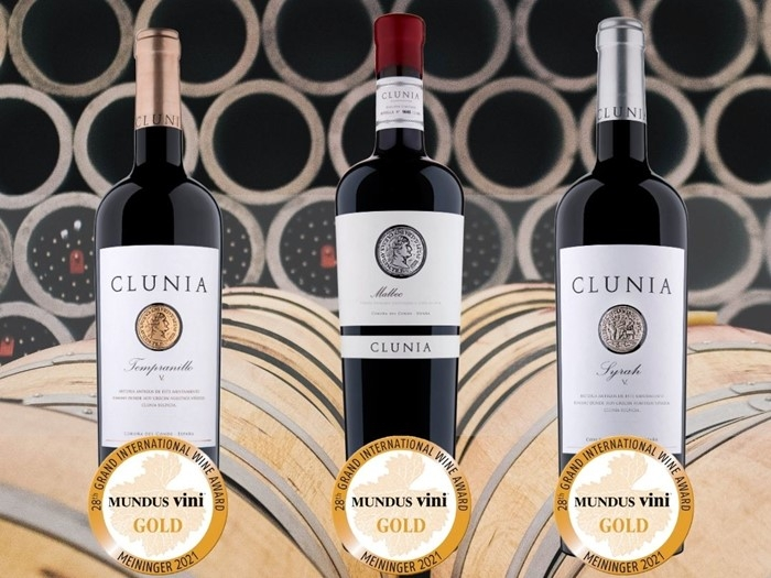 Clunia recibe tres oros en Mundus Vini