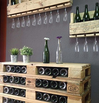 15 ideas creativas para el vino hechas con palets - Cosas hechas con palets ...