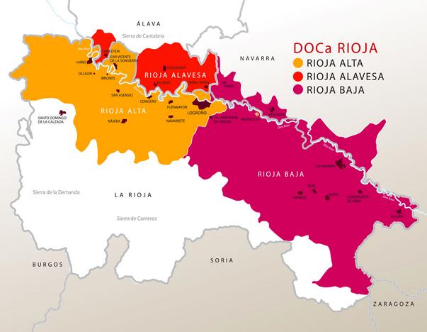 Mapas de vinos de espa a for Alojamiento en la rioja espana